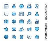 basic line icons set. modern... | Shutterstock .eps vector #1070234264