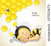 Baby Shower Card With Newborn...
