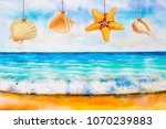 Watercolor Seascape Painting...