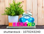 weekend letters text and... | Shutterstock . vector #1070243240