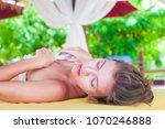 beautiful young woman enjoying... | Shutterstock . vector #1070246888