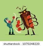 pest insect control man worker... | Shutterstock .eps vector #1070248220
