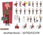 set of businessman working and... | Shutterstock .eps vector #1070252159