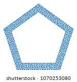 contour pentagon composition of ...   Shutterstock .eps vector #1070253080