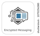 encrypted messaging icon with... | Shutterstock .eps vector #1070256380