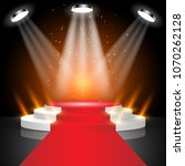stage for awards ceremony red... | Shutterstock .eps vector #1070262128