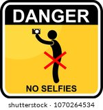 danger  no selfies | Shutterstock .eps vector #1070264534