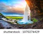 Seljalandsfoss Waterfall Durin...