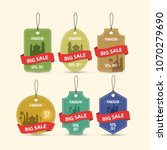 offer and discount sale tags... | Shutterstock .eps vector #1070279690