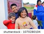 playful native american... | Shutterstock . vector #1070280104