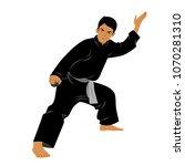 vector of silat martial arts... | Shutterstock .eps vector #1070281310