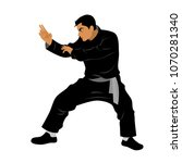 vector of silat martial arts... | Shutterstock .eps vector #1070281340