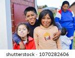 funny native american children...   Shutterstock . vector #1070282606