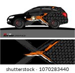 tech shape with grunge... | Shutterstock .eps vector #1070283440