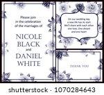 romantic invitation. wedding ... | Shutterstock .eps vector #1070284643