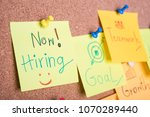 we re hiring text on sticky... | Shutterstock . vector #1070289440