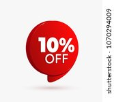 red discount offer price label... | Shutterstock .eps vector #1070294009