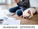 woman managing the debt | Shutterstock . vector #1070296196