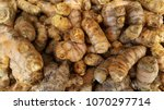 close up fresh raw turmeric.... | Shutterstock . vector #1070297714