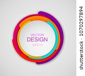 abstract colorful circle... | Shutterstock .eps vector #1070297894