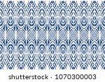 ikat seamless pattern. vector...   Shutterstock .eps vector #1070300003