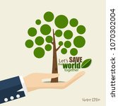 eco friendly. ecology concept... | Shutterstock .eps vector #1070302004