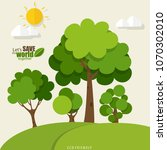 eco friendly. ecology concept... | Shutterstock .eps vector #1070302010