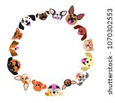 dogs face circle | Shutterstock .eps vector #1070302553