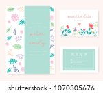 wedding invitation card with...   Shutterstock .eps vector #1070305676
