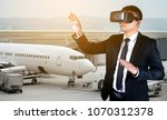 goggles vr virtual reality... | Shutterstock . vector #1070312378