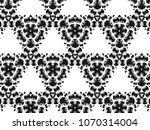 ornament with elements of black ... | Shutterstock . vector #1070314004