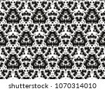 ornament with elements of black ... | Shutterstock . vector #1070314010