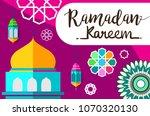 ramadan kareem design... | Shutterstock .eps vector #1070320130