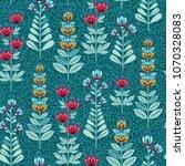 vector floral seamless pattern. ... | Shutterstock .eps vector #1070328083