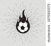 soccer ball vector design fire ... | Shutterstock .eps vector #1070332373