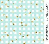 gold heart seamless pattern.... | Shutterstock .eps vector #1070336654