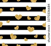 gold heart seamless pattern.... | Shutterstock .eps vector #1070336684