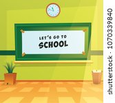 green class back to school  | Shutterstock .eps vector #1070339840
