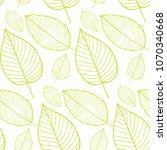 vector seamless pattern of leaf ... | Shutterstock .eps vector #1070340668
