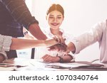 business handshaking process... | Shutterstock . vector #1070340764