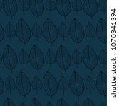 vector seamless pattern of leaf ... | Shutterstock .eps vector #1070341394