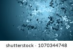 geometric lines and dots. line... | Shutterstock .eps vector #1070344748