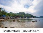 view of fishing village near... | Shutterstock . vector #1070346374
