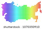 dot spectrum pixelated ussr map.... | Shutterstock .eps vector #1070350910