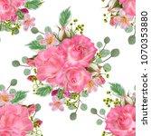 floral seamless pattern. flower ... | Shutterstock . vector #1070353880