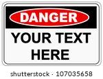 Danger Label Sign On White