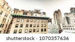 buildings and roof garden in... | Shutterstock . vector #1070357636