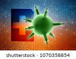 3d rendering viruses in... | Shutterstock . vector #1070358854
