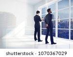 businessmen standing in... | Shutterstock . vector #1070367029