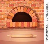 oven  bonfire  stove  bakery... | Shutterstock .eps vector #1070378066
